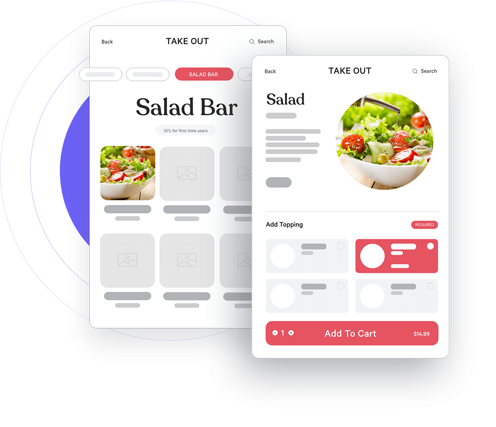 salad bar screen
